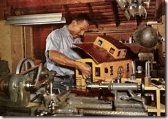 Walt Disney working in his barn - FindingWalt.com