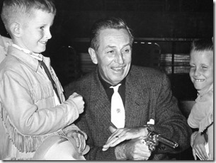 Walt Disney with a white STR tie - FindingWalt.com